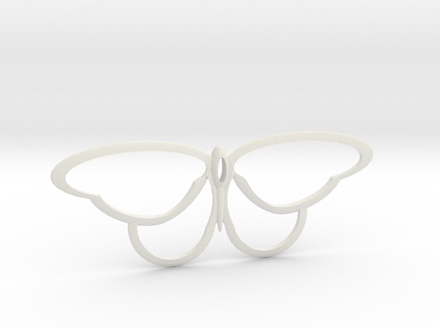 flutterfly in White Natural Versatile Plastic
