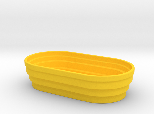 Trough 1/32 in Yellow Strong & Flexible Polished