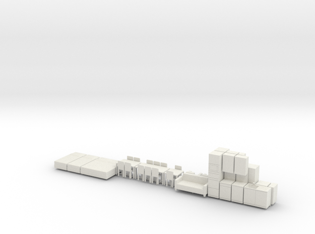 Architecture Models Furnitures - 1:50 scale - AT in White Natural Versatile Plastic