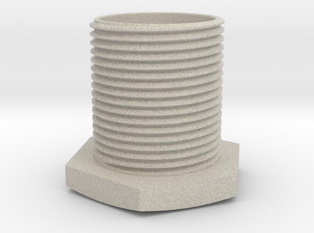 Hexagon-cup in Natural Sandstone