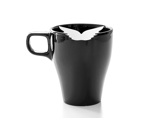 Mug & glass accessories wings 1 in White Natural Versatile Plastic