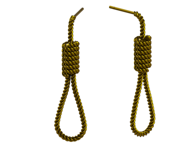 Halloween Hanging Rope Earrings in Natural Brass