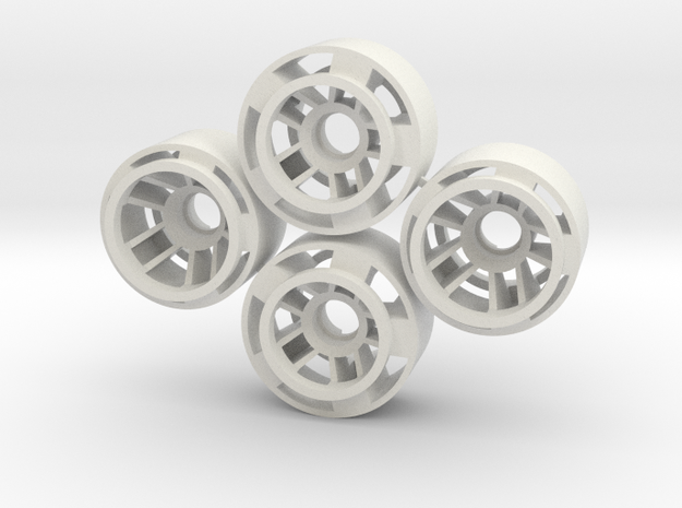 Mini-z F1 Wheelset BRM -1rears in White Natural Versatile Plastic