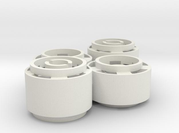 Mini-z F1 Wheelset BRM 0rears in White Natural Versatile Plastic