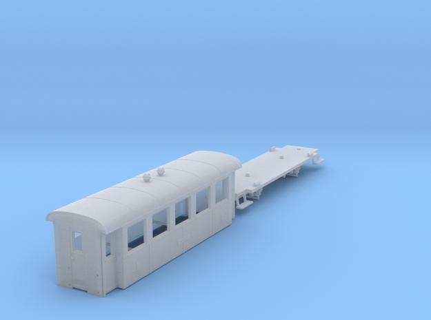 ZB (H0e) - 5-Fenster-Personenwagen B19 (alt) in Smooth Fine Detail Plastic