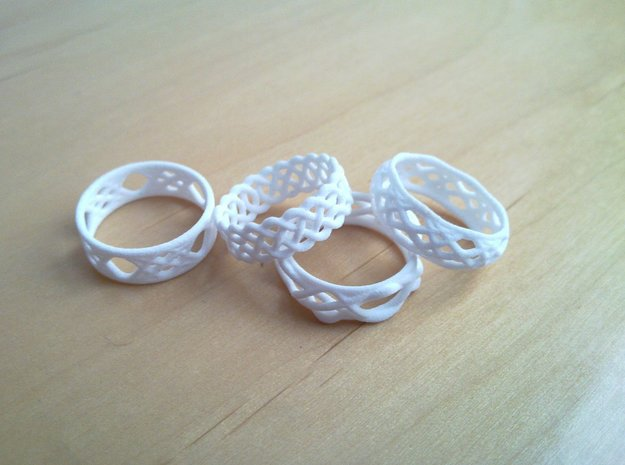 Sine Ring Bulge 3d printed Various rings. Note only one ring is included here.