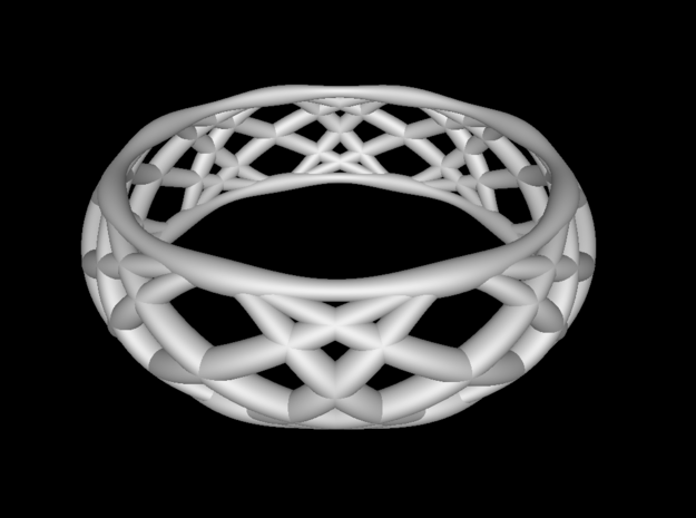 Sine Ring Bulge 3d printed Ring design shown in Functy.