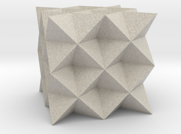 64 Tetrahedron Grid in Natural Sandstone