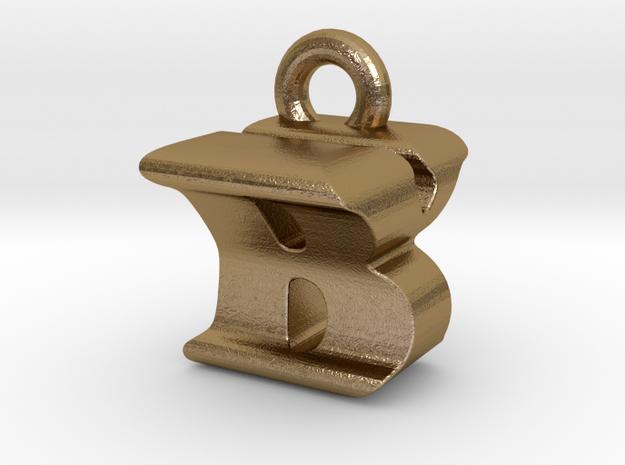 3D Monogram Pendant - BYF1 in Polished Gold Steel