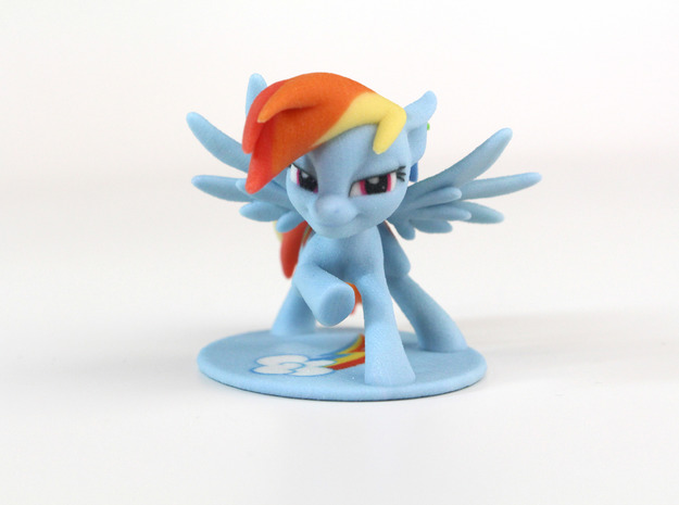 My Little Pony - Rainbow Dash Posed (≈55mm tall) in Full Color Sandstone