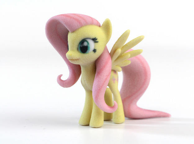 My Little Pony - Fluttershy (≈65mm tall) in Full Color Sandstone