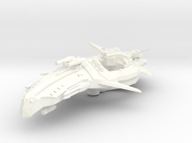 Zen Dazi Tak'agi Class Battleship in White Strong & Flexible Polished