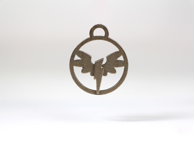 Wonderbolt Medallion in Polished Gold Steel