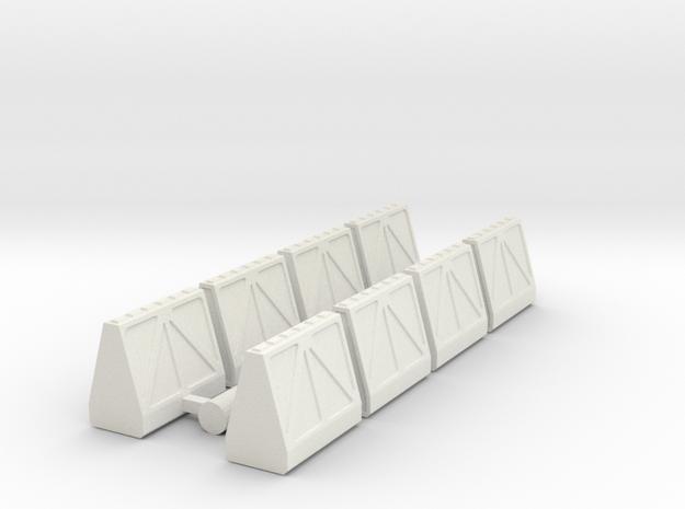 Cargo Pods 1 in White Natural Versatile Plastic