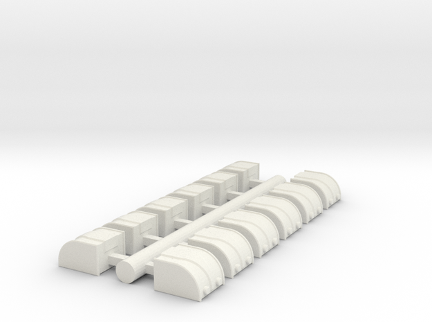 Cargo Pods 2 in White Natural Versatile Plastic