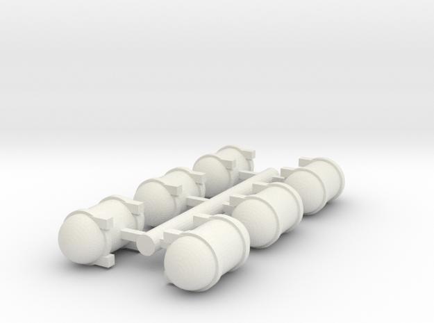 Liquid Tanks 2 in White Natural Versatile Plastic