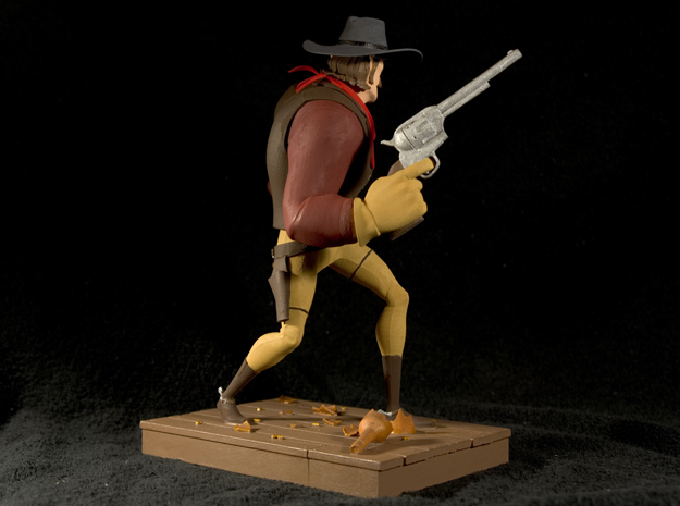 The Gunfighter (Large) 3d printed This is the result after hand painting it with Revell Aqua Paints. Not available as a painted piece.