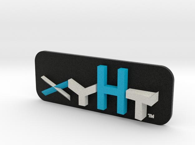 Xyht 2 logo swish in Full Color Sandstone