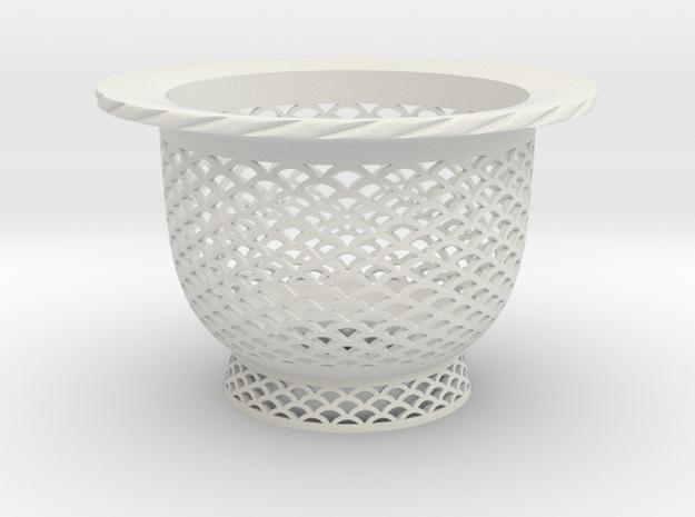 "Neo Pot - Model 2 - Size 2.5 (2.5"" ID) in White Natural Versatile Plastic"