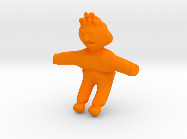 Ernie From Sesame Street in Orange Processed Versatile Plastic