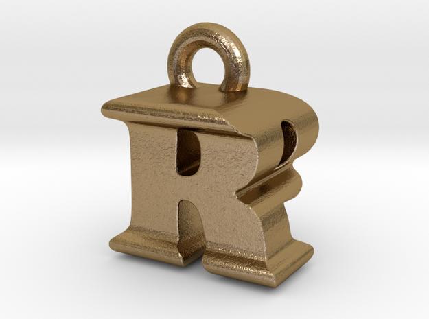 3D Monogram - RPF1 in Polished Gold Steel