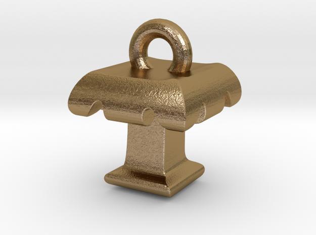 3D Monogram - TTF1 in Polished Gold Steel