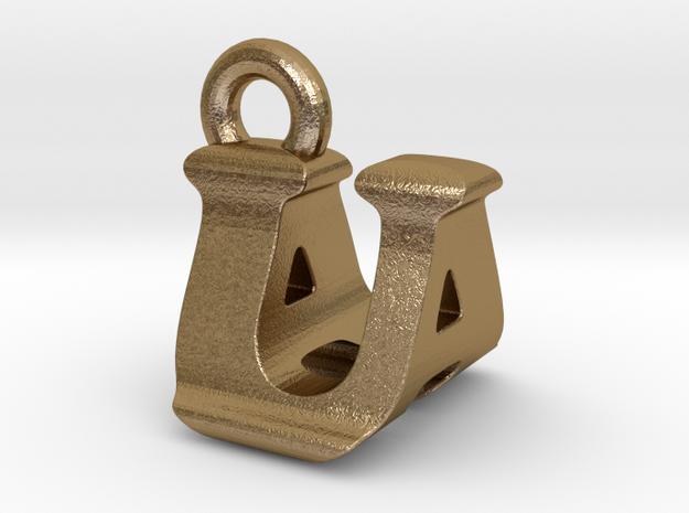 3D Monogram - UAF1 in Polished Gold Steel