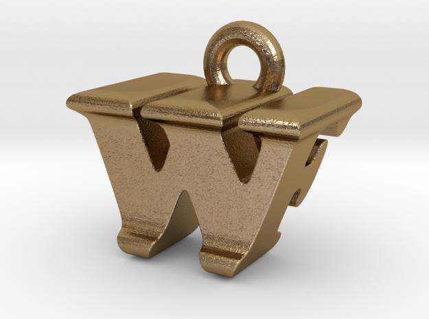 3D Monogram - WFF1 in Polished Gold Steel