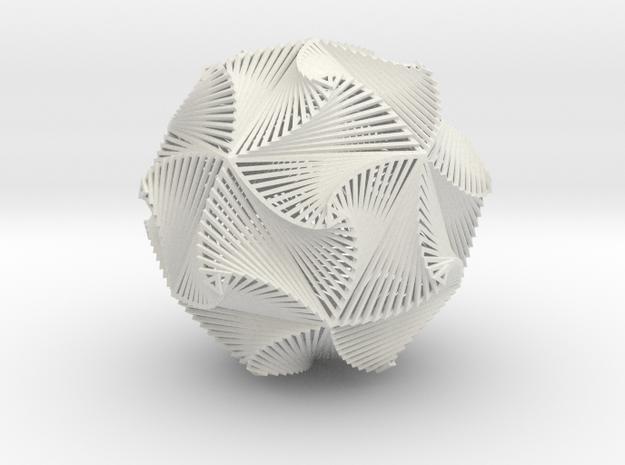 Icosacurve Inverted Small in White Natural Versatile Plastic