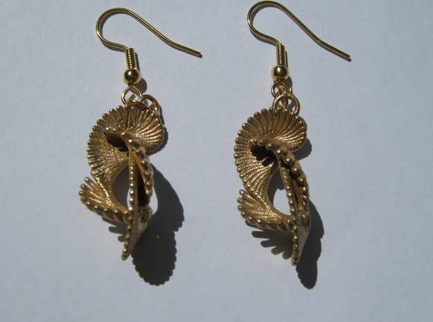 Coil 80 Earrings in Natural Bronze