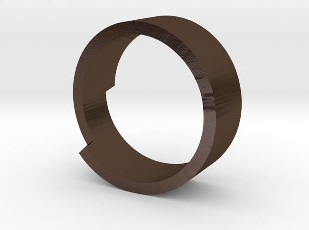 Make your own text / message / poem Ring 3d printed