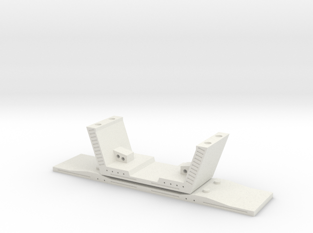 HO/1:87 Precast concrete bridge segment (small/no  in White Natural Versatile Plastic