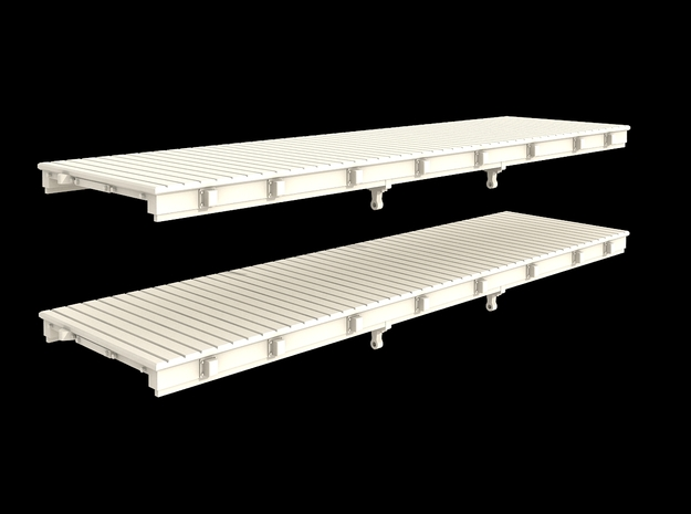 N Scale Low Profile 30' Flat Car in Smooth Fine Detail Plastic