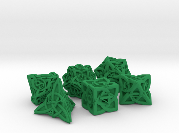 Celtic Dice Set - Solid Centre for Plastic
