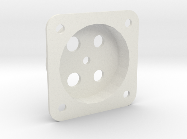 Fascia Mount for Tam Valley Servo Controls in White Strong & Flexible