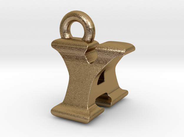 3D Monogram - YAF1 in Polished Gold Steel