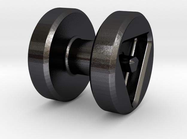 Barbell Bead: Tritium (2x6mm Vials) 3d printed