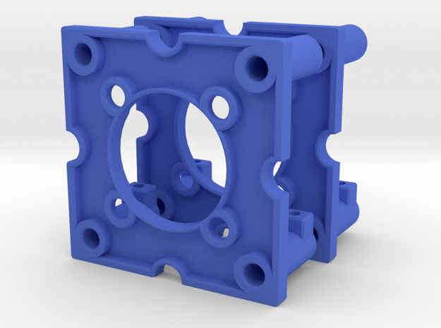 Optical Endswitch Base Plate for our Rotor Project in Blue Processed Versatile Plastic
