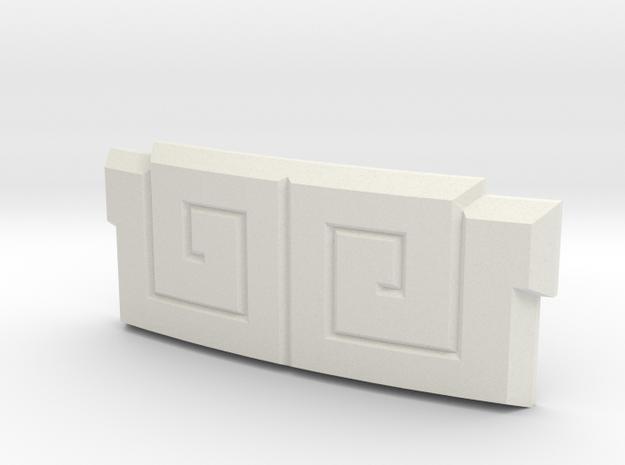 Dairanger Buckle in White Natural Versatile Plastic