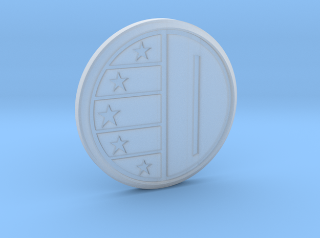Dairanger badge with stars 3d printed