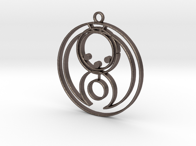 Bella - Necklace in Polished Bronzed Silver Steel