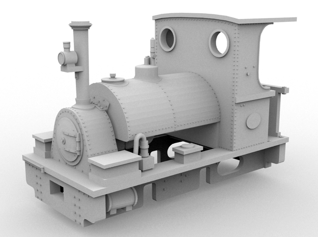 PBR Peckett(1:43 Scale) in White Natural Versatile Plastic