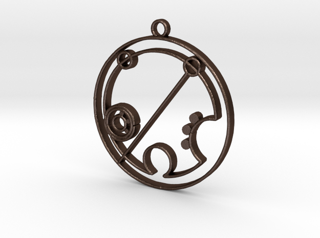 Brielle - Necklace in Matte Bronze Steel