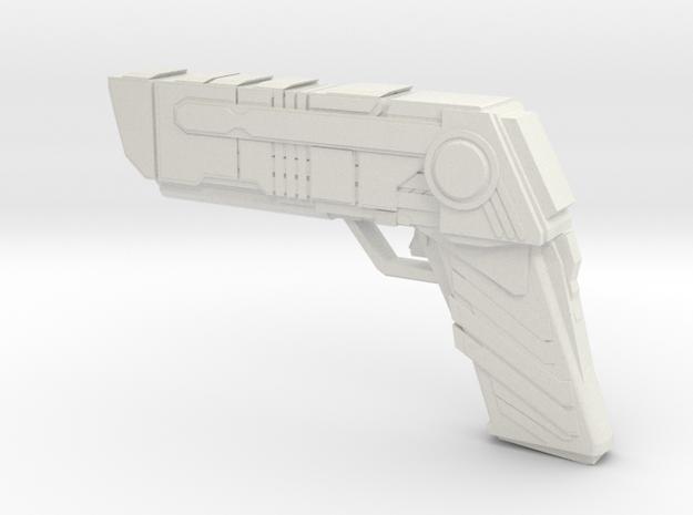 Futuristic handgun Concept in White Strong & Flexible