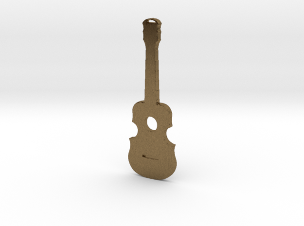 Guitar Pendant in Natural Bronze
