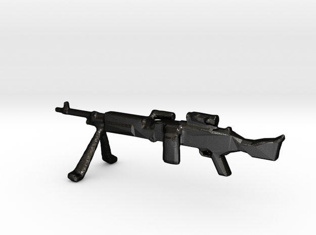 7.62 mm MAG 58 Round On with IWS and NAD in 1:35 S in Matte Black Steel