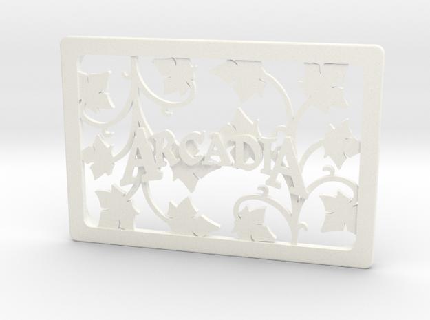Arcadia Quest - Lid  in White Processed Versatile Plastic