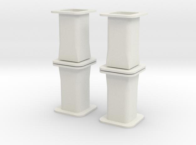 HO/1:87 Precast concrete bridge column set 3d printed