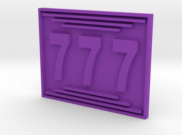 Magnet1 in Purple Processed Versatile Plastic