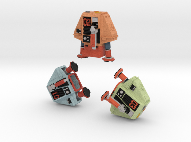 1-25 Full Color Three Silent Robots